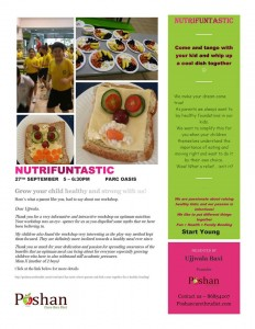 Kids nutriition and stay fit workshop in Singapore