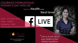 International Women's Day - Women's Health & Diet FB LIVE session